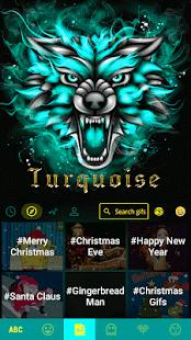 Turquoise Emoji Keyboard Theme APK for Bluestacks