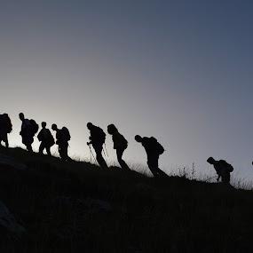 Morning hikers by Olsi Belishta - Novices Only Portraits & People ( albania, people, hiking, nemercke )