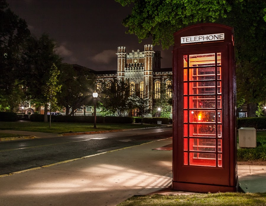 Phone Booth by John Spain - Buildings & Architecture Other Exteriors ( university of oklahoma )