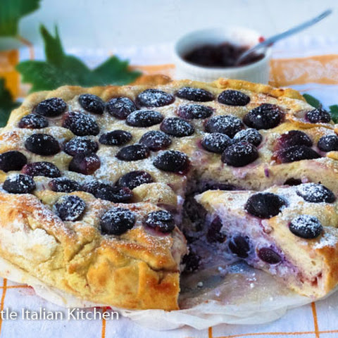 Grape Focaccia stuffed with cheese
