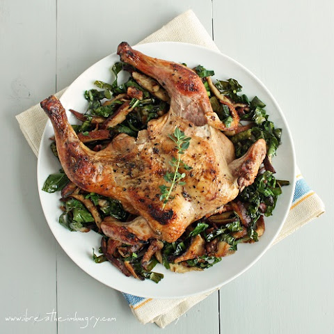 Cornish Game Hens with Shitakes & Chard (Low Carb & Gluten Free)