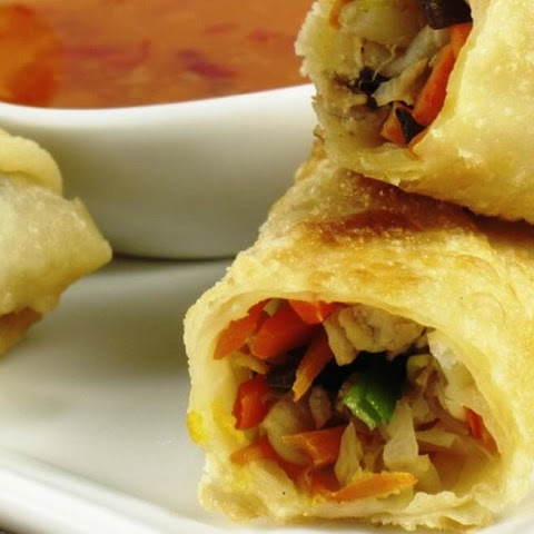 Tasty Chinese Spring Rolls with Vegetables