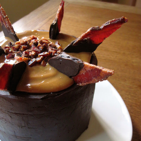 Chocolate Caramel Bacon Insanity Cake
