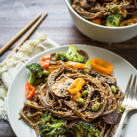 Simple Soba Noodle Stir Fry