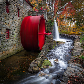 Spinning Wheel at the Grist Mill by David Long - Buildings & Architecture Other Exteriors ( sudbury, grist mill, massachusetts )