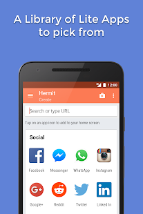 Hermit • Lite Apps Browser- screenshot thumbnail