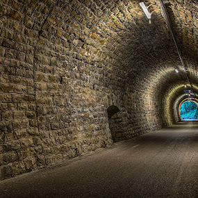 Tunnel Valeta by Joško Šimic - Buildings & Architecture Architectural Detail ( footpath, old, street, corridor, road, architecture, alley, light - natural phenomenon, narrow, ancient, vanishing point, no people, dirty, dark, wall - building feature, underground, diminishing perspective, cobblestone, stone material, everypixel, tunnel )