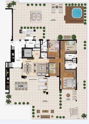 Planta Garden - 380 m²