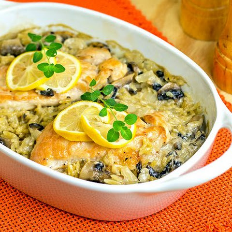Lemon Chicken Oreganata Casserole