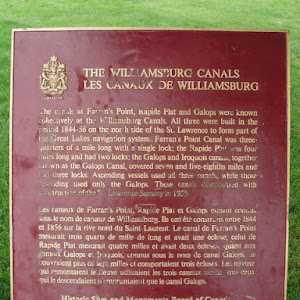 The canals at Farran's Point, Rapide Plat and Galops were known collectively as the Williamsburg Canals. All three were built in the period 1844-56 on the north side of the St. Lawrence to form part ...