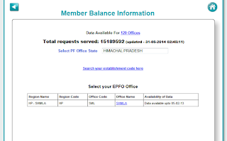 Screenshot of Employees Provident Fund - EPF