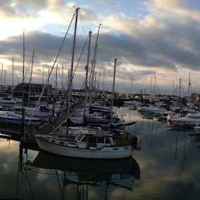 Ramsgate Harbour Pan by Mick Heywood - City,  Street & Park  Vistas ( water, reflection, boats, harbour, sea, panoramic )