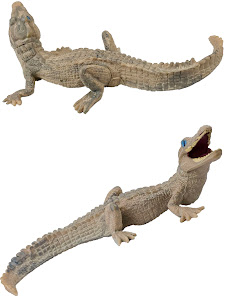 "Игрушка-фигурка серии ""Город Игр"", крокодильчик M2, белый"