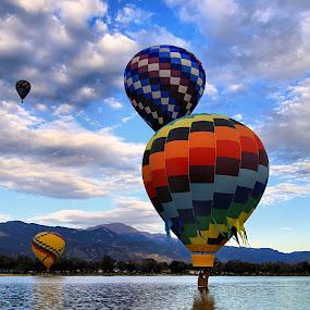 Sky High by Jen Millard - Transportation Other ( flying, flight, sky, colorado, floating, hot, air, balloons )