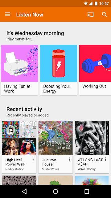 Google Play Music screenshots