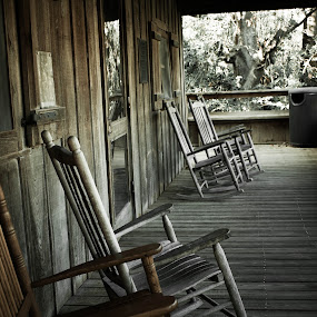 Restful Retreat by Victoria Evans - Novices Only Objects & Still Life ( cajun, chairs, louisiana, relaxation, porches, bayou )