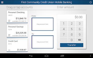 Screenshot of First Community Credit Union