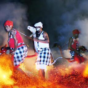 FIRE DANCE by Widiatmika Yuli - People Street & Candids ( dance, fire )