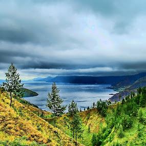 Clouds over Toba by Sigit Setiawan - Landscapes Mountains & Hills ( indonesia, sumatra, lake, lake toba, cloudy days )