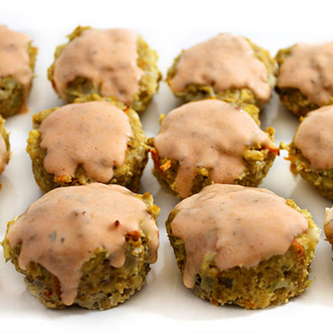 Skinny Buffalo Turkey Meatloaf Muffins