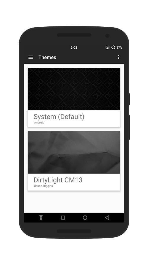 DirtyLight CM13 Theme Screenshot 3
