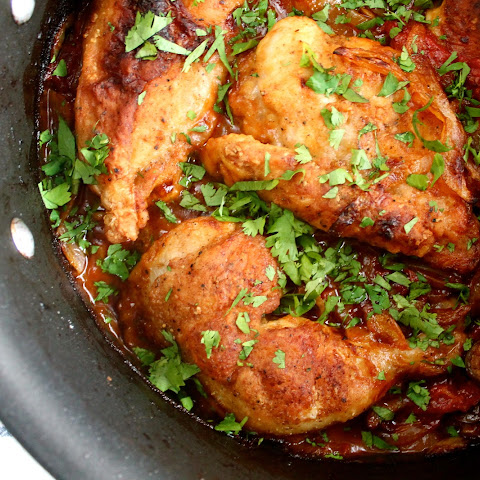 Spanish Chicken With Lemon, Olives And Onions