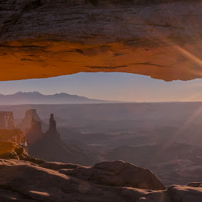 Mesa Arch Canyonlands by Drew Campbell - Landscapes Sunsets & Sunrises ( canyonlands, mesa arch, sunrise )