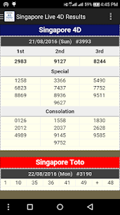 Singapore 4D Toto Result - screenshot