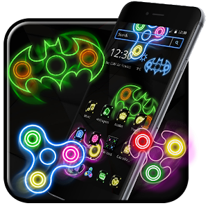 Neon Fidget Spinner Cool Theme For PC