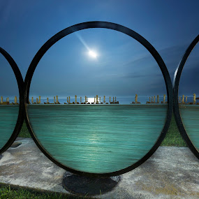 Horizondes by Fokion Zissiadis - Landscapes Starscapes ( sculpture horizondes night photography moonlight,  )