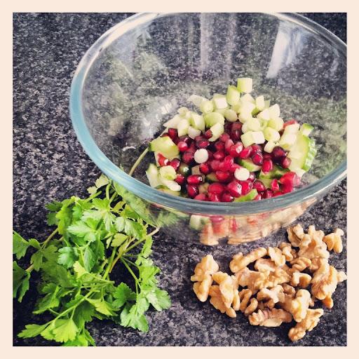 Pomegranate, Walnut and Bulgur Wheat Salad Recipe   Yummly