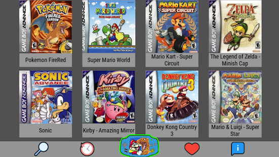 Emulator For All - NES SNES GBA GBC MAME N64
