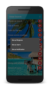 Ocean sound for sleep ringtone - screenshot
