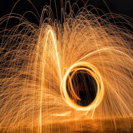 spin the light by Maria Yudin - Abstract Light Painting ( abstract, light painting, abstract art, painting with light, night, light, painting )