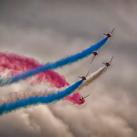 Under Cut by Kelly Murdoch - Transportation Airplanes ( flying, flight, red arrows, reds, airplane, aircraft, display, formation, airshow )