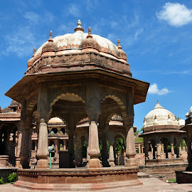 Assets of Mandore by Paras Bhalla - Buildings & Architecture Statues & Monuments ( lights, contrast, clouds, tombstone, blue sky, daylight )