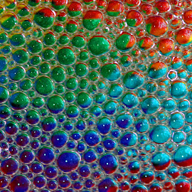 Bubbles by Janet Herman - Abstract Macro ( macro, colors, bubbles, reflections, soap, reflecting, absract )