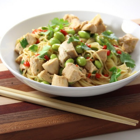 Sesame Noodles with Chicken & Edamame