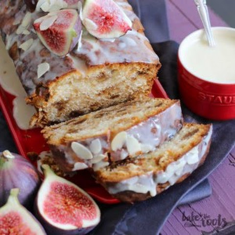 Tea Cake with Almonds, Marzipan and Figs