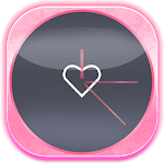 Pink Love Clock Widget 5.5.1 Apk