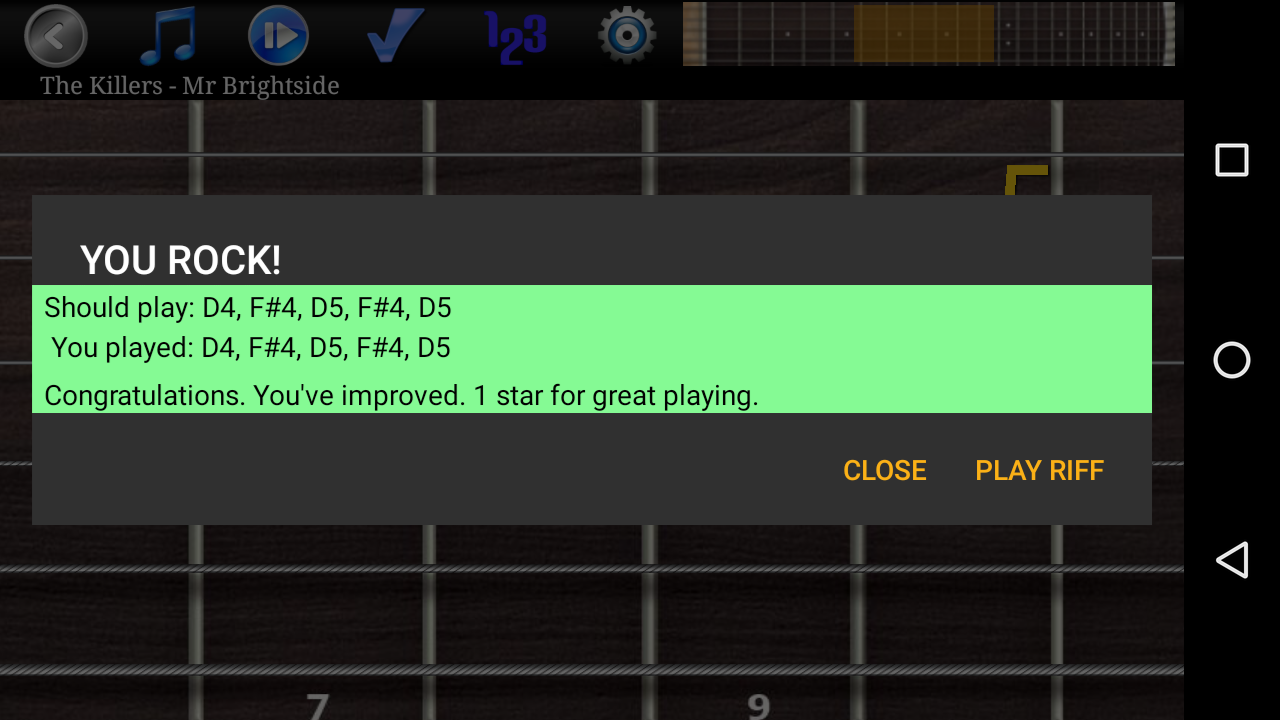 Guitar Riff Pro Screenshot 2