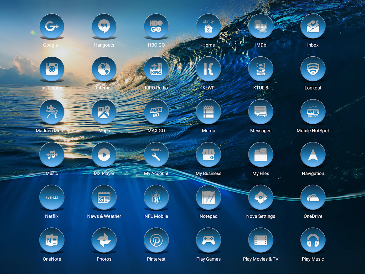 Daf Blue - Icon Pack Screenshot 8