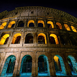 Er Colosseo by Antonello Madau - City,  Street & Park  Night