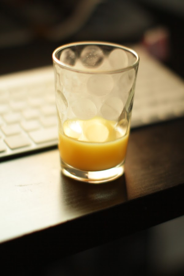 mornings by Mckenzie Georges - Food & Drink Alcohol & Drinks ( thoughts, orange, feel, good, half empty )
