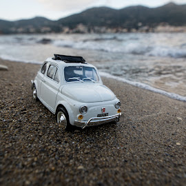 Escape from routine.. by Grigoris Koulouriotis - Artistic Objects Toys ( car, sand, vintage, toys, sea, retro, beach, relaxing, fiat500 )