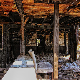 Burning No More by Crystal Sanders - Buildings & Architecture Decaying & Abandoned ( pa, abandon, urban, sfx, gettysburg, decay, house, urbanexplorer, urbex, burnt )