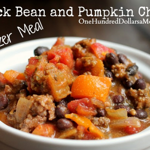 Freezer Meal – Black Bean and Pumpkin Chili