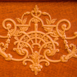 Piano Decoration by Teresa Husman - Artistic Objects Furniture ( piano, scrollwork, vintage, friday, antiques )