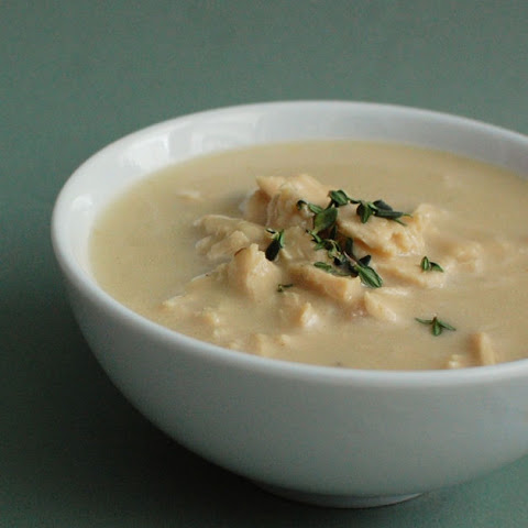 Roasted Garlic and Chicken Soup