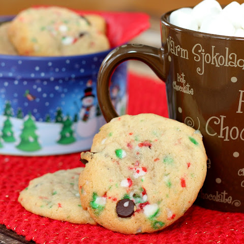 Chocolate Chip Candy Cane Cookies